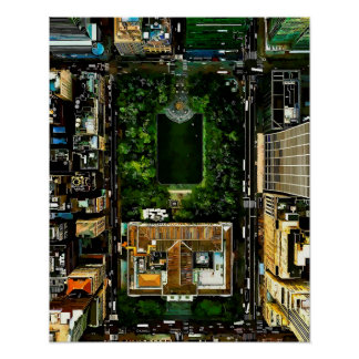 Póster Parque Manhattan NYC de Bryant de la opinión de