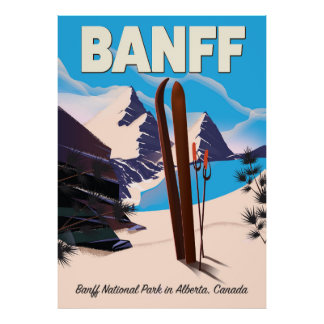 Póster Parque nacional de Banff en Alberta, Canadá