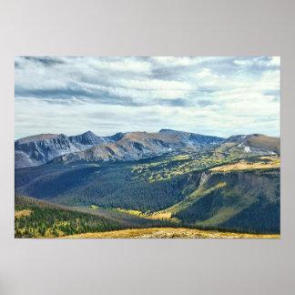 Póster Parque Nacional de las Montañas Rocosas