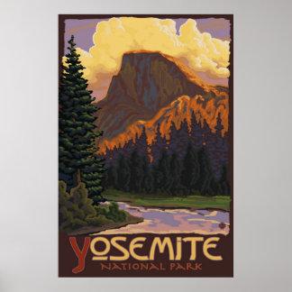 Póster Parque nacional de Yosemite - medio poster del via