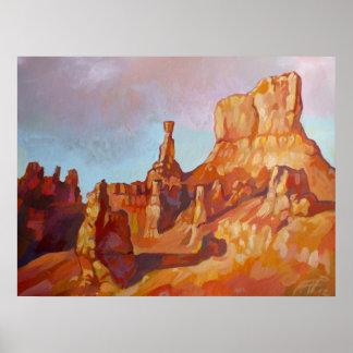 Póster Parque nacional del barranco de Bryce