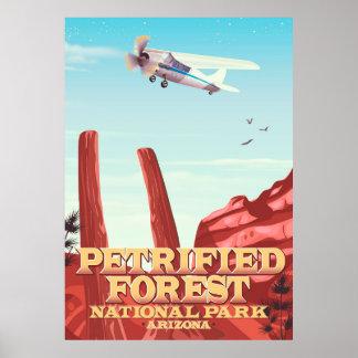 Póster Parque nacional del bosque aterrorizado, Arizona