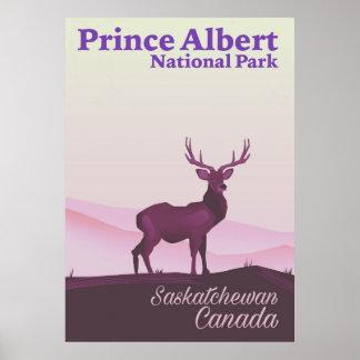 Póster Parque nacional del Príncipe Alberto,