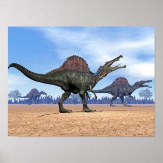 Póster Paseo de los dinosaurios de Spinosaurus - 3D