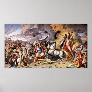 Póster Paseos de Aquiles sobre el cuerpo de Hector