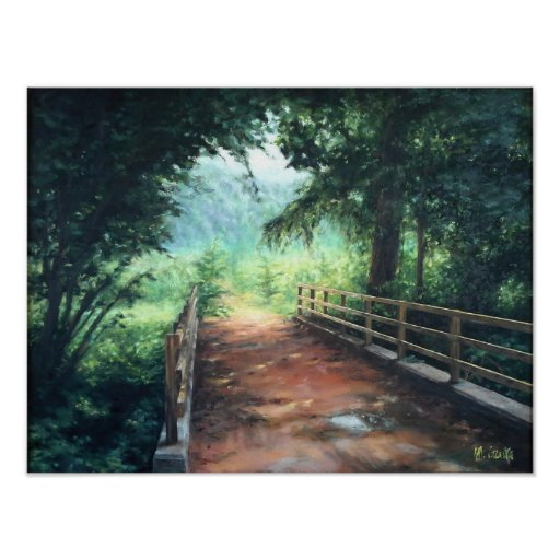 Póster Path across a landscape of nature