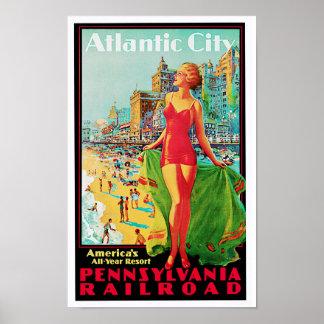 Póster Patio del año de América del ~ de Atlantic City to