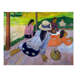 Póster Paul Gauguin la siesta