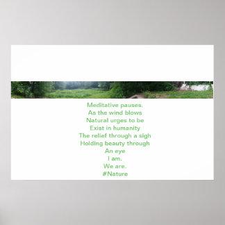 Póster Pausas meditativas. Poster #4 de la poesía