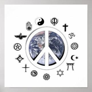 Póster Paz de mundo