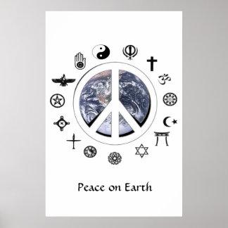 Póster Paz en la tierra