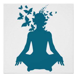 Póster paz interior positiva de la energía de la