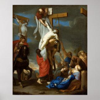 Póster Pendiente de la cruz de Charles le Brun