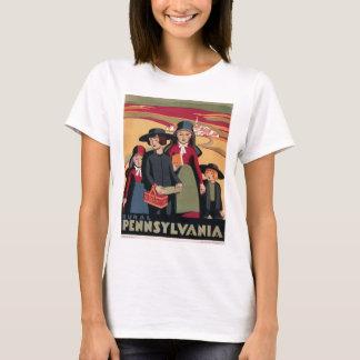 Poster Pennsylvania rural del viaje del vintage de Camiseta