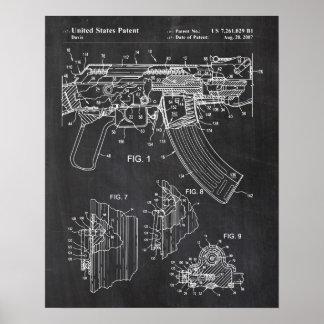 Póster Perno de Ak-47 que cierra el poster de la patente