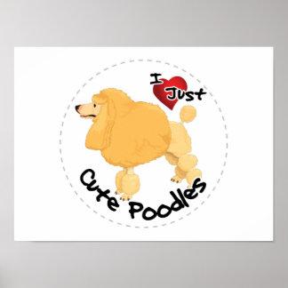 Póster Perro de caniche divertido y lindo adorable feliz