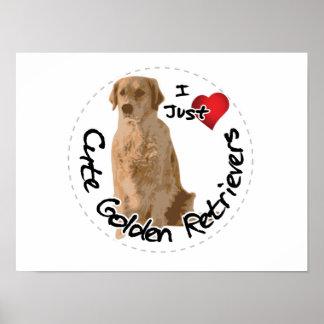 Póster Perro divertido y lindo adorable feliz del golden