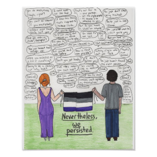 Póster Persistimos 11x14 (asexual)
