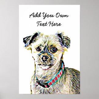 Póster Personalice este poster lindo del perro con su