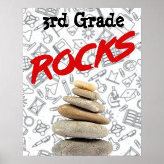 Poster personalizado de la aula - el 3ro grado póster