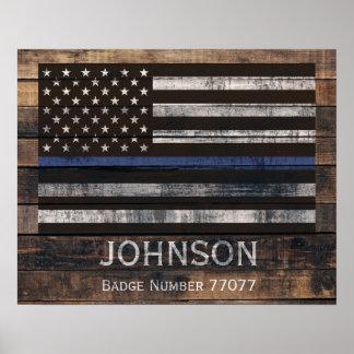 Poster personalizado de la policía póster