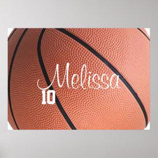 Poster personalizado del baloncesto