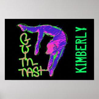 Poster personalizado del gimnasta