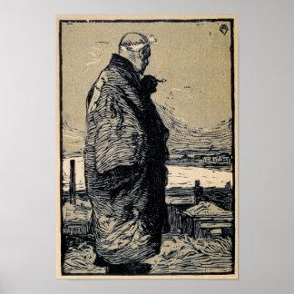 Póster Pescador de Yamamoto Kanae
