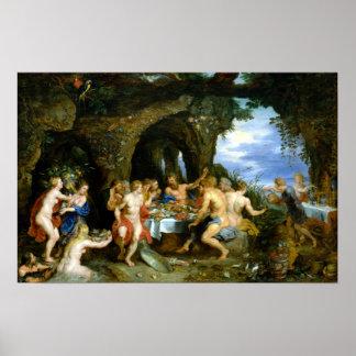 Póster Peter Paul Rubens el banquete de Acheloüs