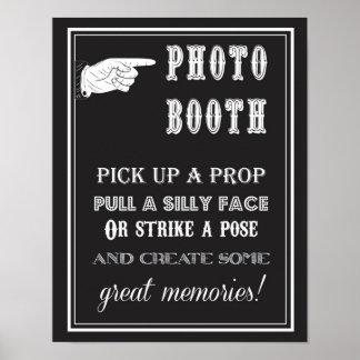 Póster Photobooth - vintage - muestra - banquete de boda