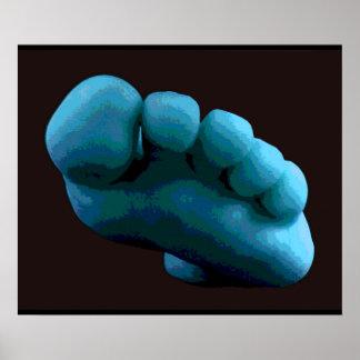 Póster Pie azul, Photoshop 2005 Art.