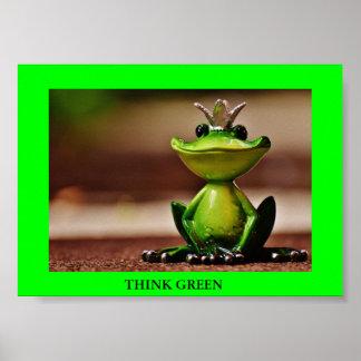 Póster Piense el verde