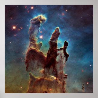 Póster Pilares de la nebulosa de HDR Eagle de la creación