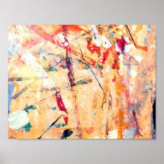 Póster Pintado a mano moderno abstracto