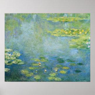 Póster Pintura 1906 de Monet Waterlilies