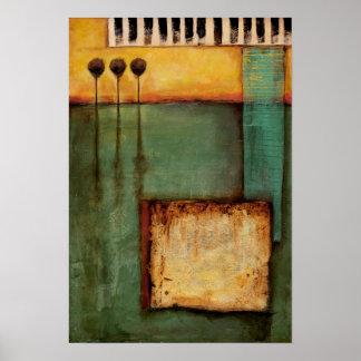 Póster Pintura abstracta con llaves del piano