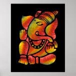 Póster Pintura colorida de Ganesha