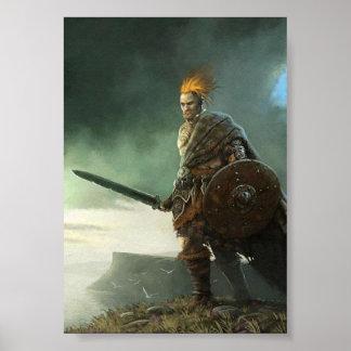 Póster Pintura del guerrero céltico