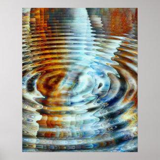 Póster Pintura inversa del agua de la reflexión