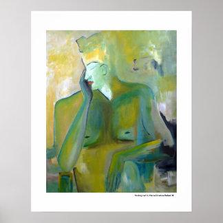 Póster Pinturas verdes figuradas del retrato andrógino
