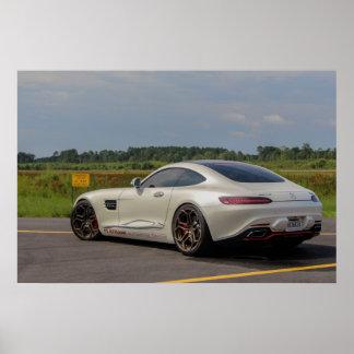 Póster Pista de aterrizaje de Mercedes AMG-GTS