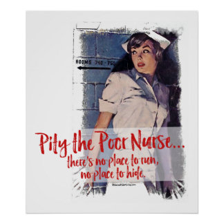 Póster Pity el poster pobre de la enfermera