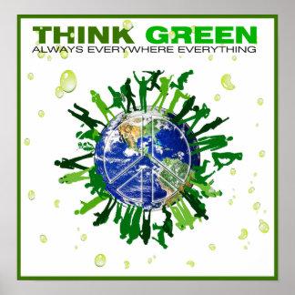 Póster Planeta pacífico: Piense el verde