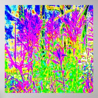 Póster Plantas de la pintada n: Puente Toronto del río de