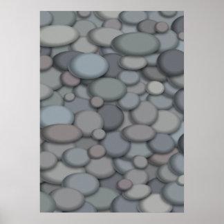 Póster Plantilla hermosa del poster de la roca del río