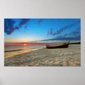 Póster playa