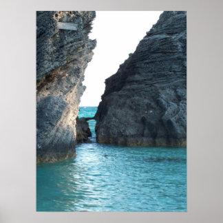 Póster Playa de herradura Bermudas
