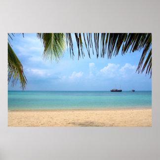 Póster Playa de la KOH Phangan Tailandia