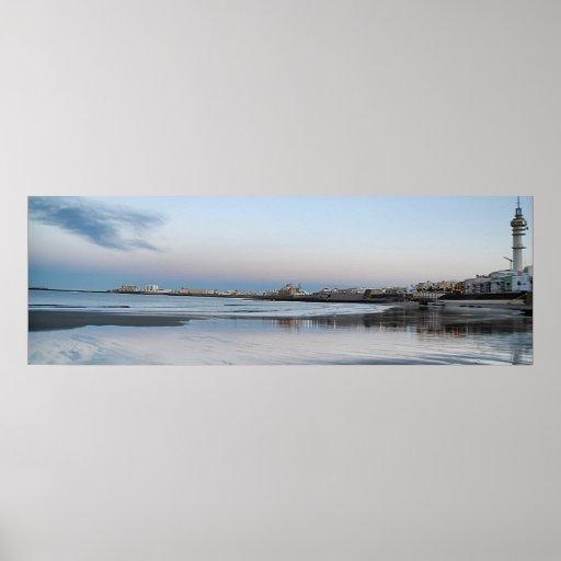 Póster Playa de Santa María del Mar , Cádiz