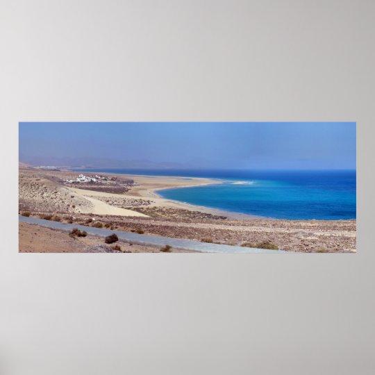 Póster Playa de Sotavento en Fuerteventura